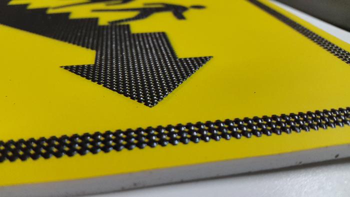Тактильные предупреждающие таблички